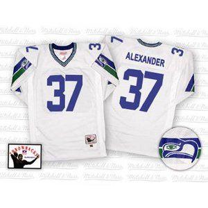 Seattle Seahawks Shaun Alexander White Jersey